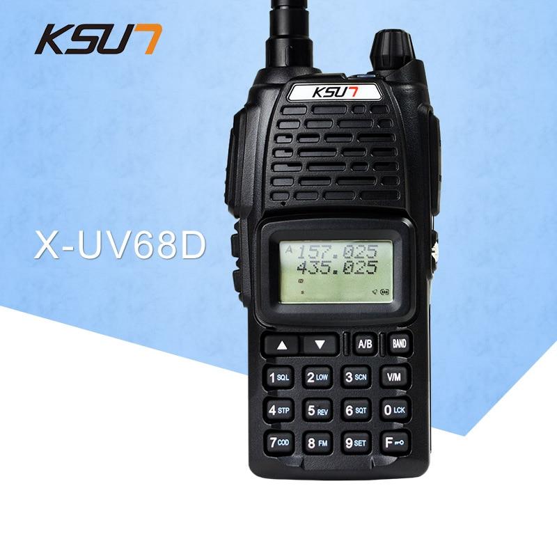 (1 uds) KSUN UV68D Ham Radio de dos vías Walkie Talkie transceptor de doble banda BUXUN X-68D (negro)