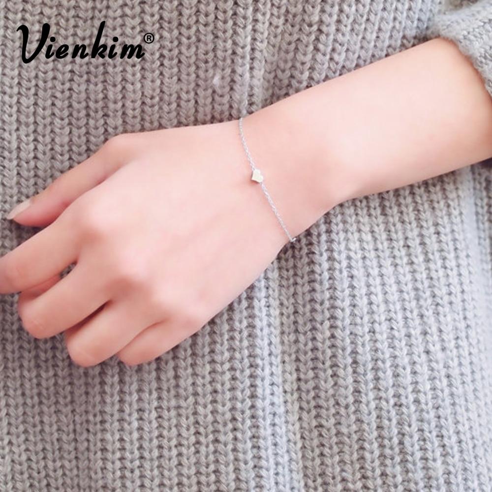 Vienkim 2019 New design lady peach heart bracelet anklet fashion bracelet ladies gift FAMSHIN