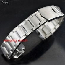 Corgeut 22mm Rechte interface 316L Solid rvs armband horloge band horloges bands