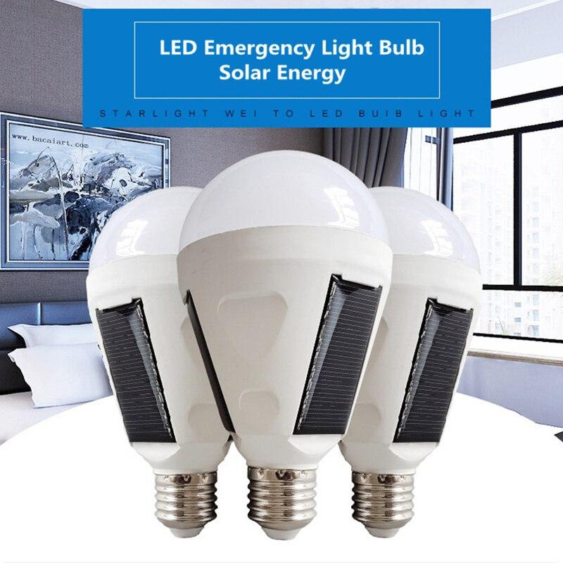Solar LED Notfall Glühbirne AC85-265V E27 7W 12W Akku Beleuchtung Lampe Intelligente Magische Bombillas Outdoor NEUE