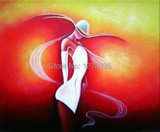 Nowoczesne streszczenie styl Handmade Wall Art Sexy kobieta portret czerwony temat akrylowe obraz farby ręcznie seks pani obrazy olejne na płótnie