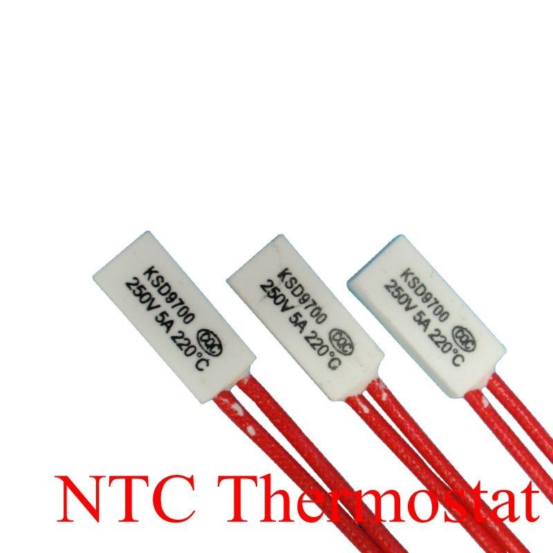 Thermostat 10C-240C KSD9700 200C 210C 220C 230C 240C 5A250V Ceramics Bimetal Disc Temperature Switch Protector degree centigrade