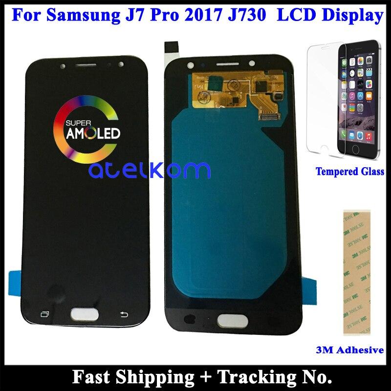 100% протестированный AMOLED ЖК-дисплей для SAMSUNG J7 2017 J730 LCD J7 Pro LCD для Samsung J730 ЖК-дисплей сенсорный дигитайзер сборка