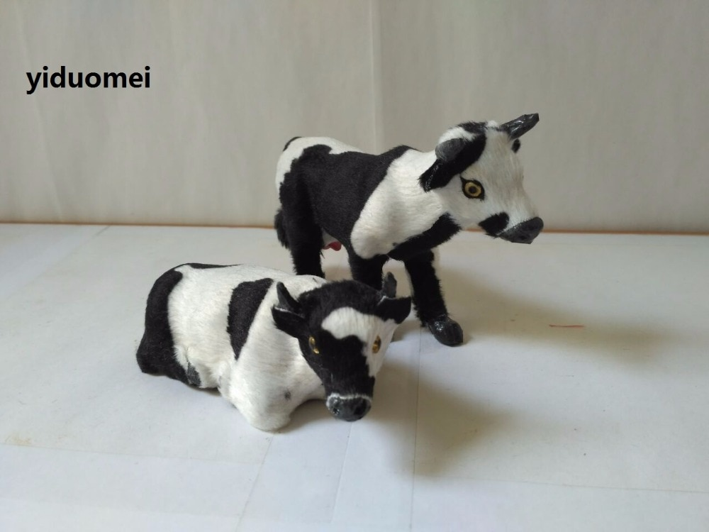 Accesorio artesanal de vaca de simulación de modelo diario de polietileno y pieles, regalo de decoración del hogar p0995