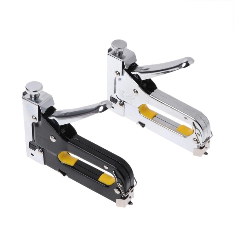 Multi herramienta de pistola de grapas muebles grapadora para puerta de madera tapicería de kit de remachadora clavadoras herramienta de remache W329