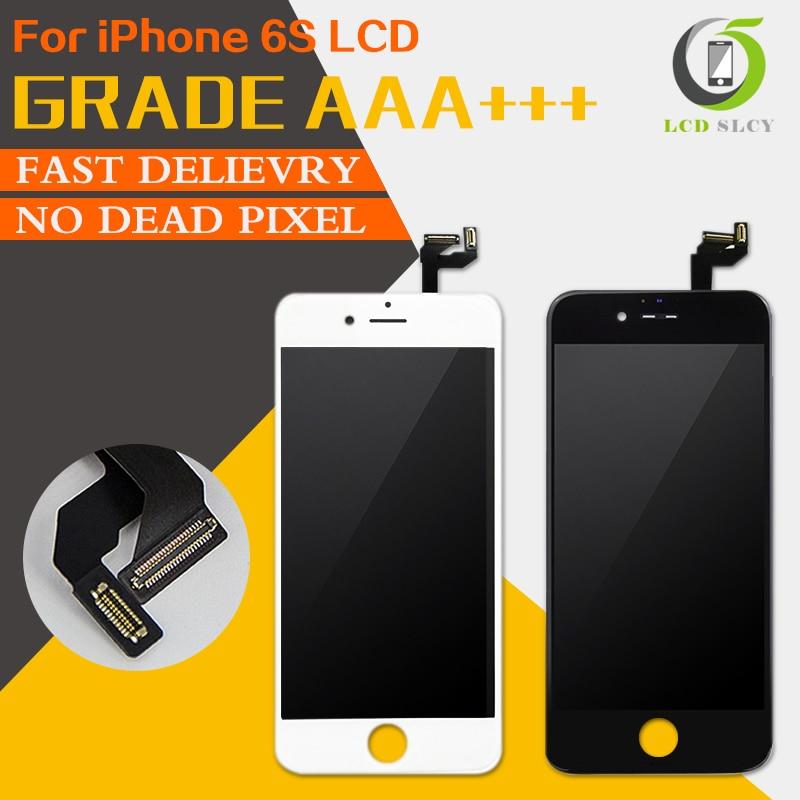 Alta calidad AAA + + sin píxeles muertos LCD para iPhone 6S LCD Pantalla de gama de alto color con pantalla táctil digitalizador Asamblea herramientas de regalo
