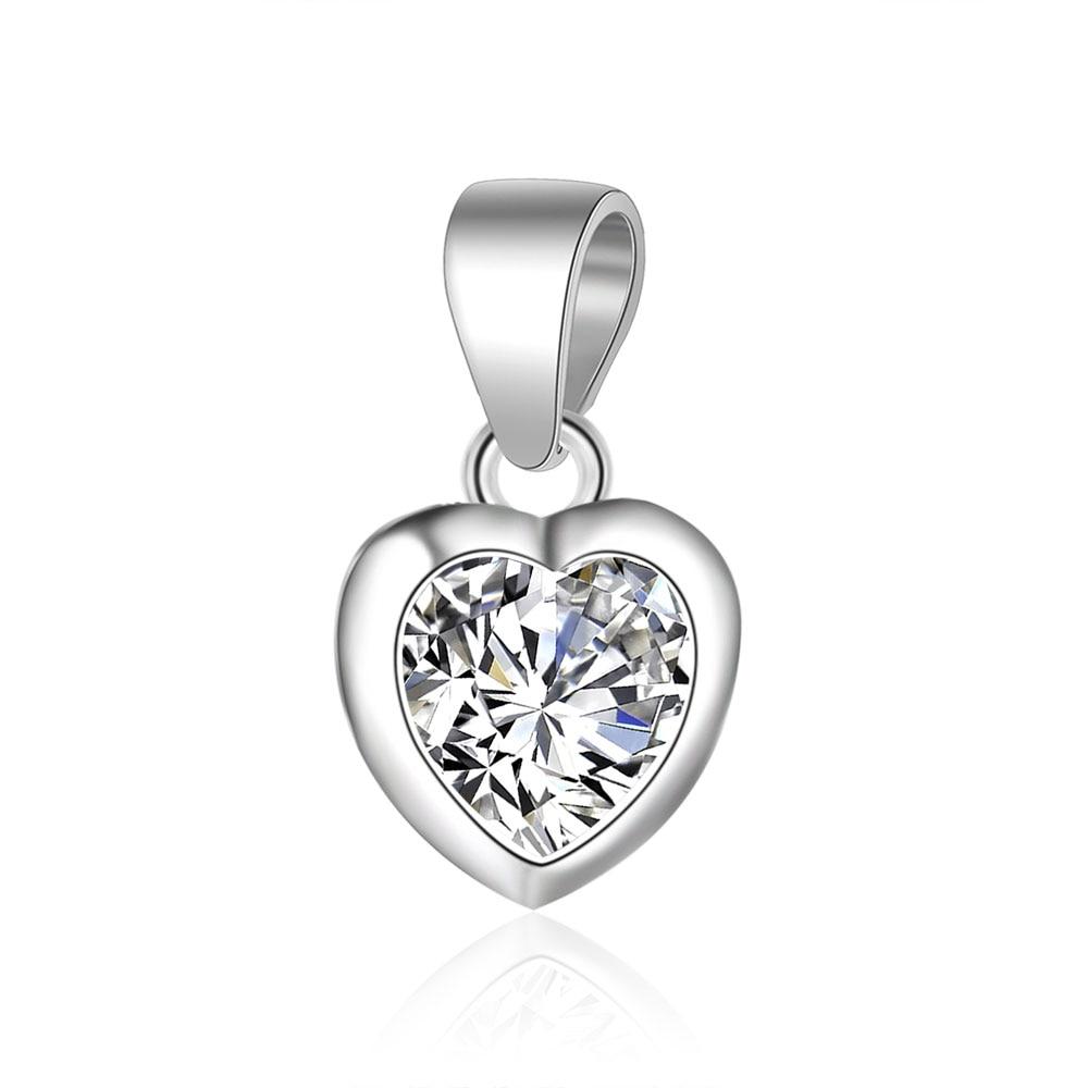 100% Plata de Ley 925 encanto en forma de corazón de amor Vnistar San Valentín corazón llave 925 Plata dijes colgantes de joyería al por mayor