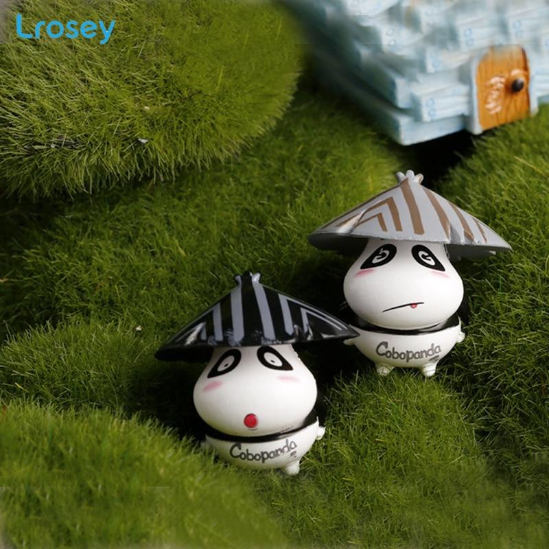Cartoon 4 Hat Bear Super cute  Micro Bonsai Decoration Garden Ornaments  Accessories Home Decoration DIY supplies Figurines