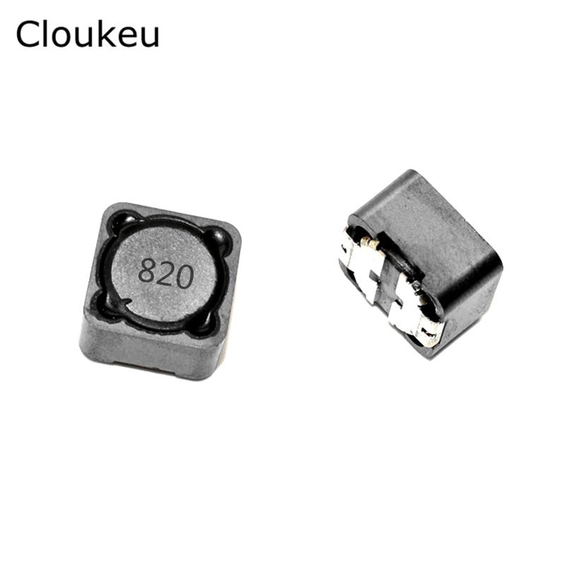 10pcs CD127 82UH/820 SMT Power Inductor Choke Coils (12*12*7) RH127