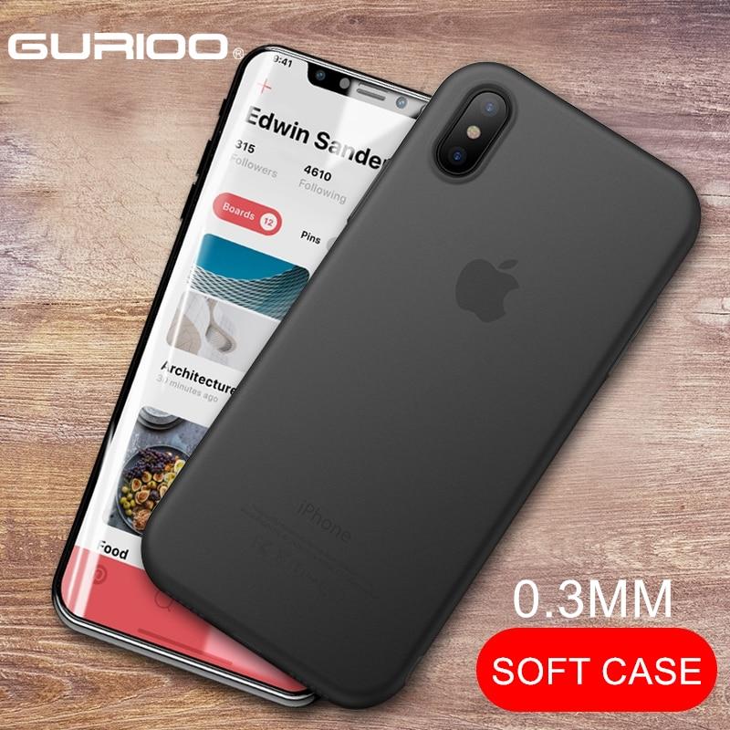 Funda Original para iPhone 11 Pro XR XS Max, fundas trasparentes ultradelgadas de PP para iphone 6 6S 7 8Plus X carcasa blanda
