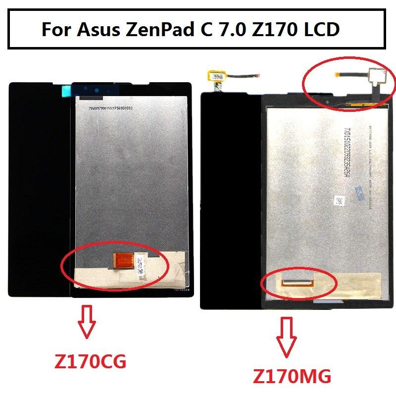 Para Asus z170 pantalla LCD pantalla táctil pieza de repuesto para Asus ZenPad C 7,0 Z170 Z170CG pantalla LCD para asus Z170MG