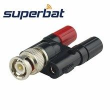 Superbat BNC Adapter BNC Male Plug to Dual Banana Plug Jack Female RF Coaxial Connector