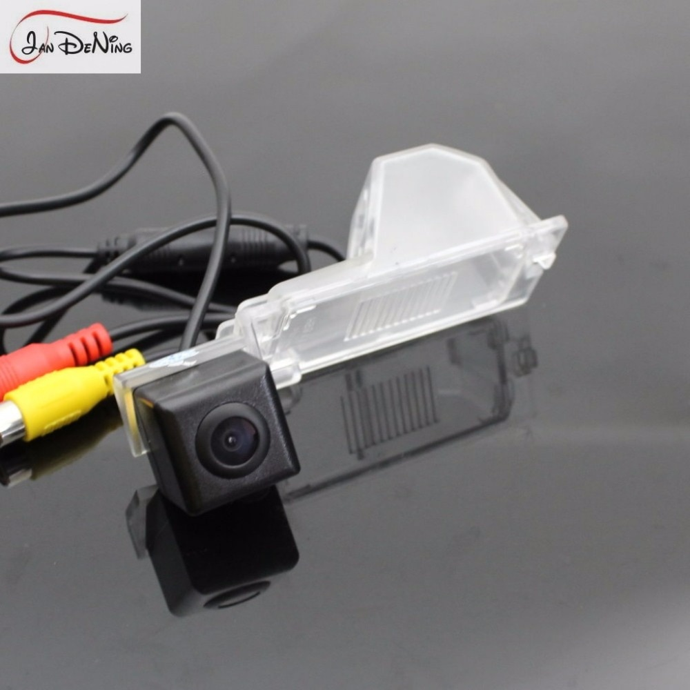 JanDeNing HD CCD vista trasera de coche aparcamiento/cámara reversa de respaldo/luz de matrícula OEM impermeable para Ford Edge 2007-2014