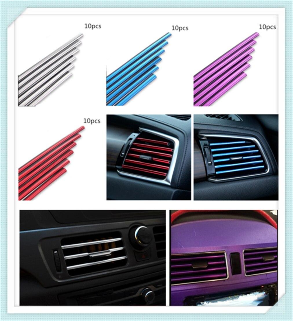 Peças do carro de saída de ar condicionado decoração tira clipe personalidade modificada para Nubira Chevrolet WTCC Sequela Monte Kodiak