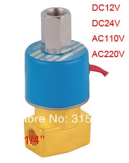 "Envío Gratis 1/4 ""DC231-Y-08 válvula solenoide eléctrica de 3/2 vías válvula Acción Directa KSD DC12V... DC24V... AC110V o AC220V"