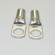 Connecteur de terminaux de batterie 35mm 2AWG 3/8 en fil   10 pièces, trou de boulon, câble de cuivre chromé, cosses de batterie 35mm 2AWG