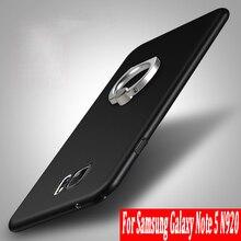 Étui pour Samsung Galaxy Note 5 N9200 Coque rigide mate couverture arrière mince boîtier de téléphone de mode pour Samsung Note5 étui de téléphone portable