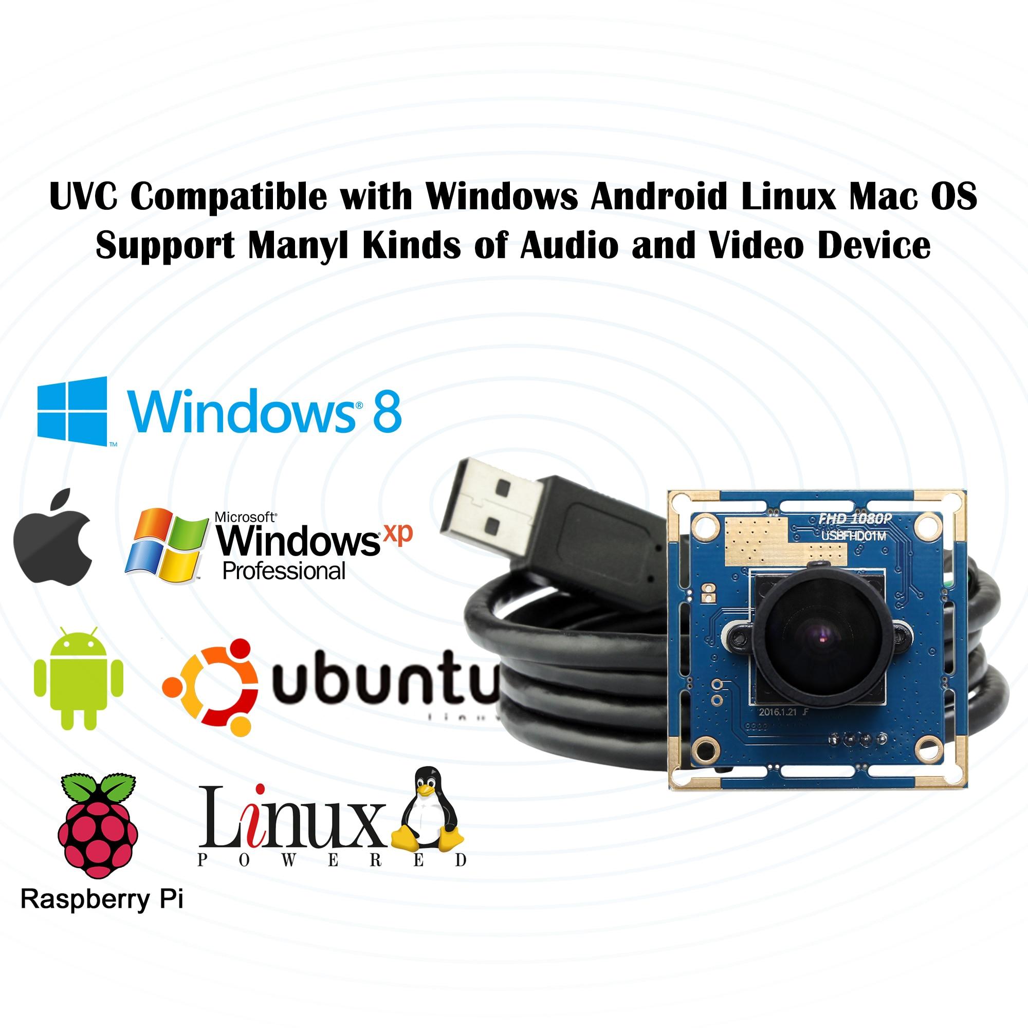 Cámara web de seguridad 2MP 1080P Mini CMOS OV2710 UVC OTG 30fps/60fps/120fps 170 grados lente ojo de pez gran angular CCTV módulo de cámara