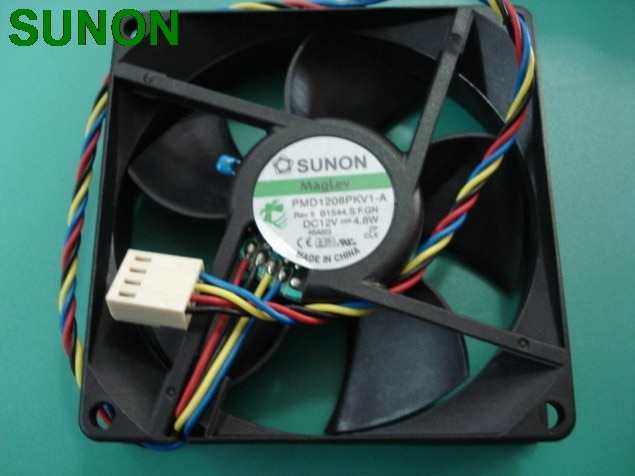 For Sunon PMD1208PKV1-A 8CM 8*8*2CM 8020 80*80*20 12V 4.8W 4PIN PWM Tempreture control server cooling fan
