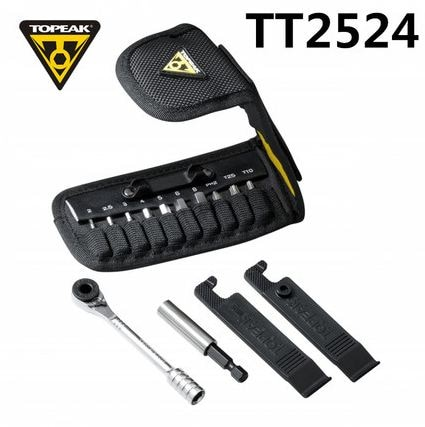 Topeak TT2524 трещотка Rocket Lite функциональные инструменты горный велосипед T10/T25 Torx цепь контактный выключатель шестигранный ключ Набор торцевых ключей