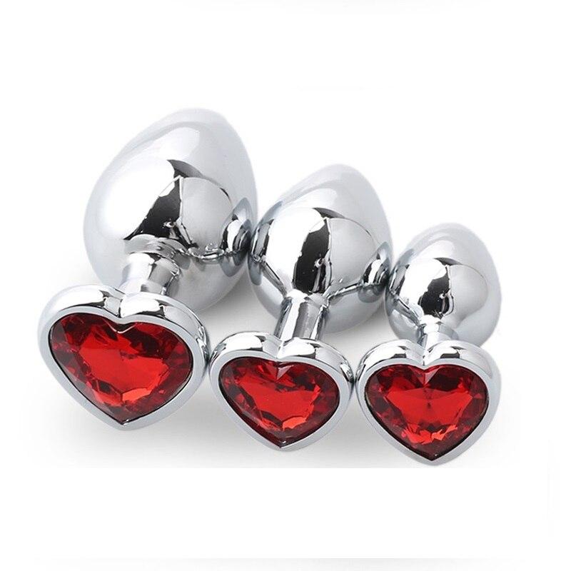 Pedaço 162g Dia 41 1 Enorme tamanho da forma Do Coração de Cristal de prata Jóias de metal plug anal butt plug de inserção rolha brinquedo do sexo para os homens