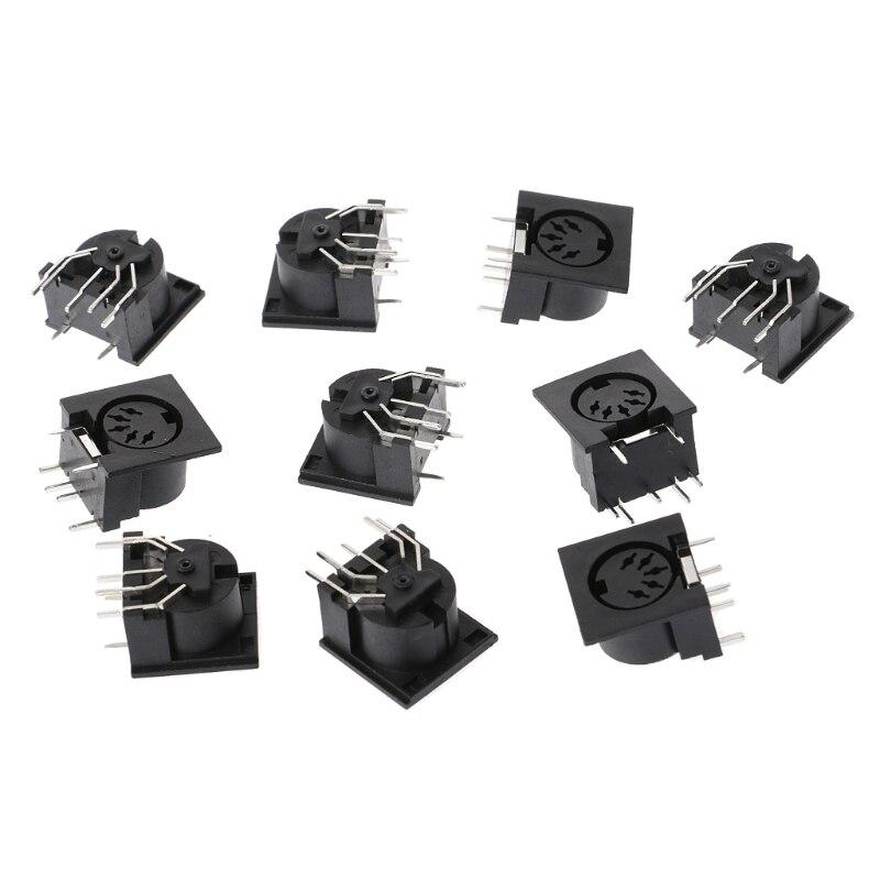 10 teile/satz PCB Panel Montieren Weiblichen Stecker DIN5 DIN 5-Pin Jack DS-5-01 MIDI