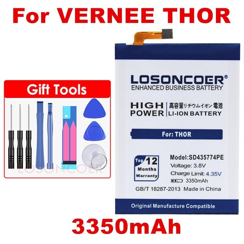 LOSONCOER 3350 mAh SD435774PE polimerowe baterie do Vernee Thor baterii darmowe narzędzie