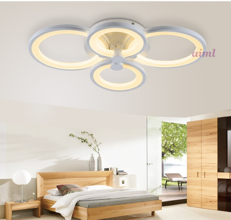 Remote control living room bedroom modern led ceiling lights dimming led ceiling lamp Multiple combination personality ceiling  - buy with discount