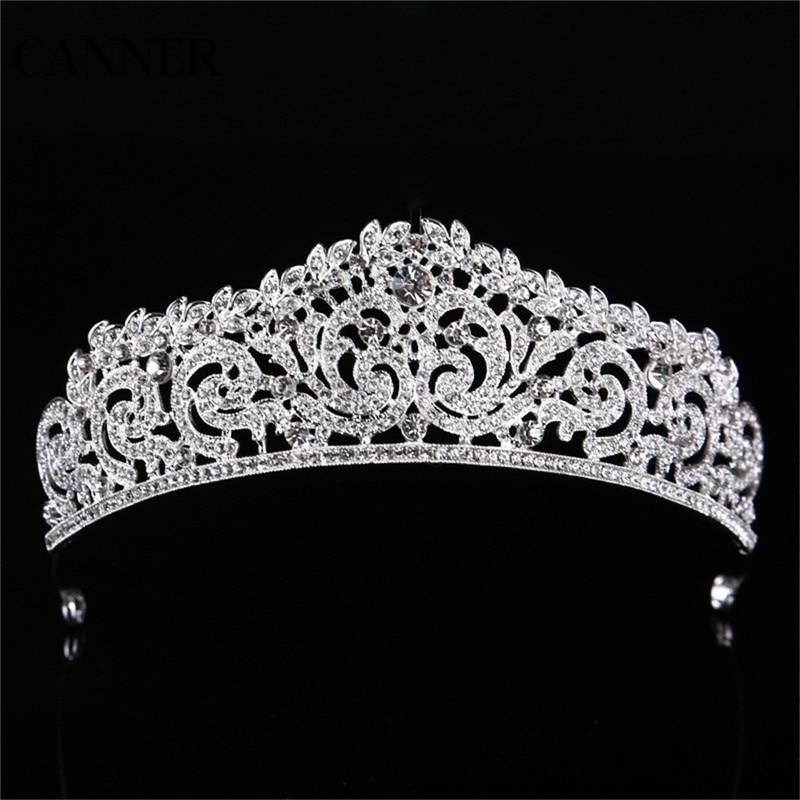 Canner mujeres corona diadema cristal strass Tiara Boda nupcial coronas Tiara Accesorios