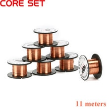 Enroulement magnétique de bobine en fil de cuivre   Aimant de 11 mètres 0.1mm en fil de cuivre émaillé pour faire de lélectroaimant modèle moteur, fil de cuivre