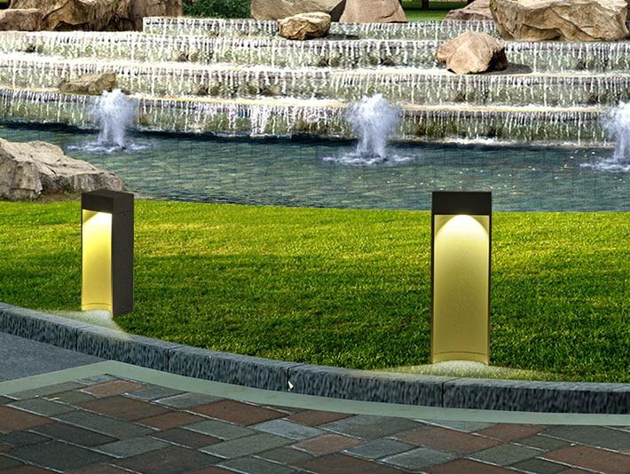 2pcs/lot LED Landscape Post Light lamp waterproof Outdoor Garden Lawn Light decoration Decorative LED lamp road lawn light enlarge