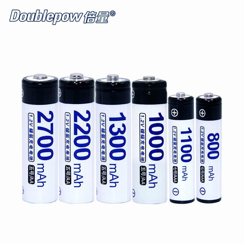 4 pcs. Doublepow original Ni-MH bateria 700-2700mAh 1.2V bateria Recarregável AA/AAA baterias Eletrônico especial, alta capacidade