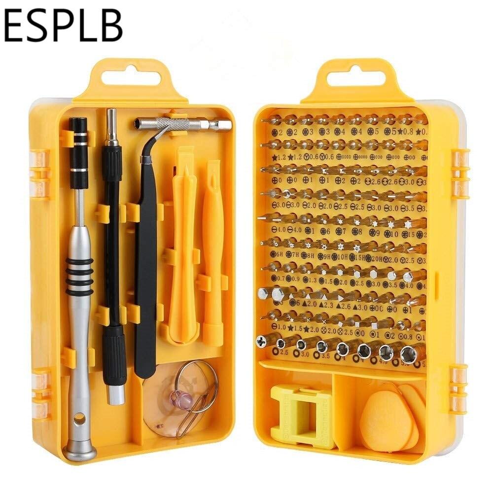 Juego de destornilladores ESPLB 108 en 1, destornillador de precisión multifunción, para teléfono móvil, PC, ordenador, herramientas de reparación manual electrónicas para el hogar