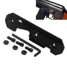 Placa lateral de cola de milano de acero táctico compatible con receptor estampado para llave AK/Saiga Airsoft Rifle de caza AK47Scope montaje 2-0032