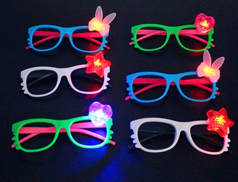Led flash glasses frame children girl boy cartoon flashing lights glasses party bar event supplies decoration Christmas gift