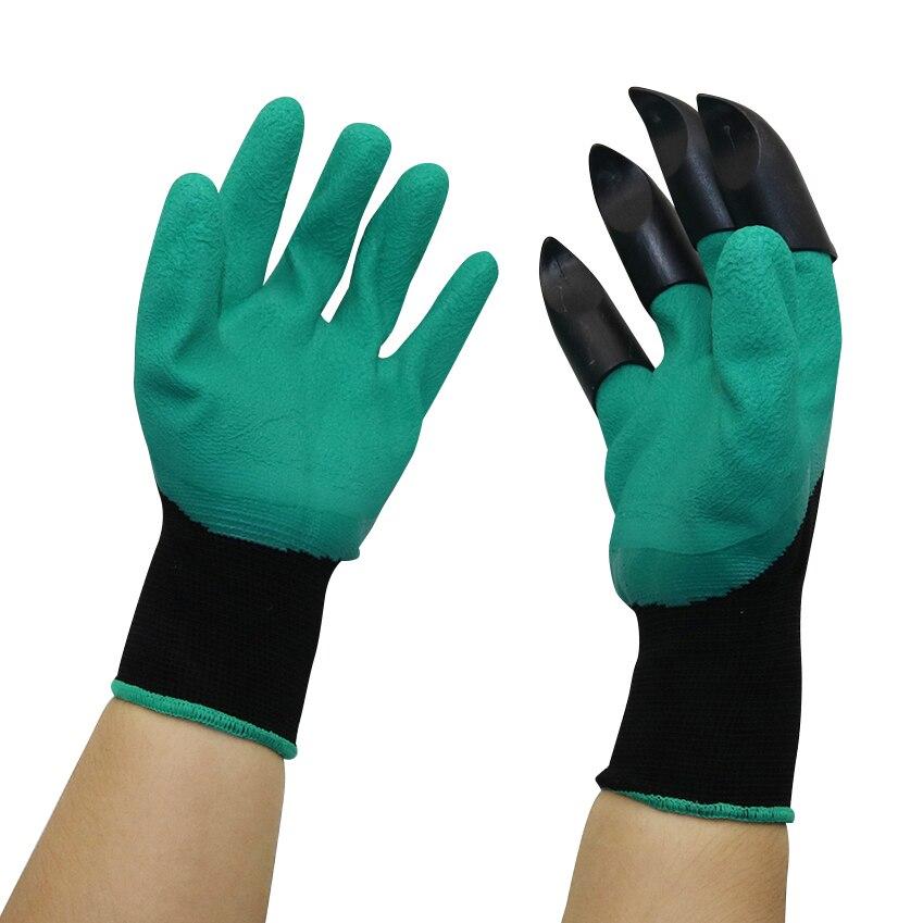 Садовые перчатки с кончиками пальцев Когти для копания растений Садоводство Роза посадки Обрезка перчатки варежки перчатки для копания