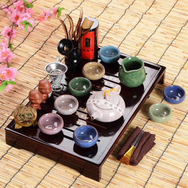 حار المبيعات الآباء اليوم هدية فكرة الكونغ فو الشاي مجموعة Drinkware الصينية حفل الشاي مع الشاي الجدول أكثر من ثمانية قطعة مجموعة الراقية هدية