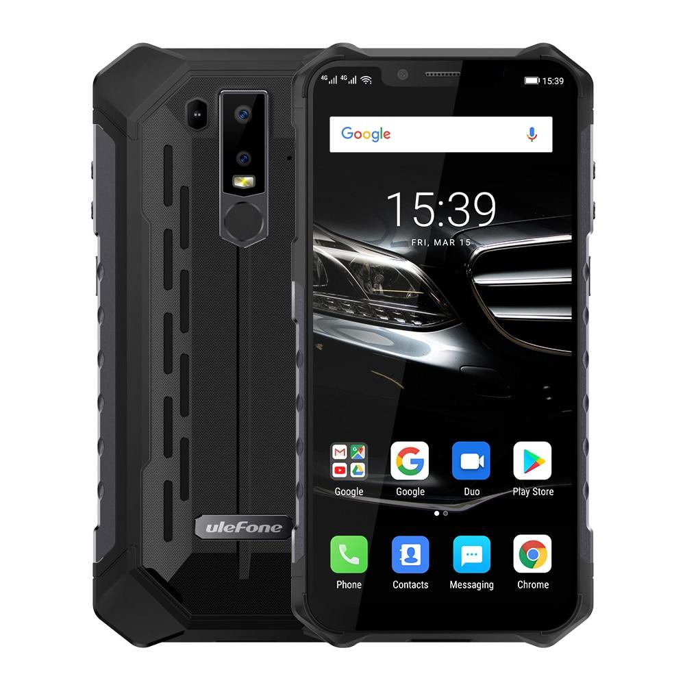 "Ulefone armadura 6E teléfono móvil IP69K a prueba de agua Android 8,1 de 6,2 ""FHD + Helio P7O Octa Core 4GB + 64GB de carga inalámbrico Smartphone NFC"