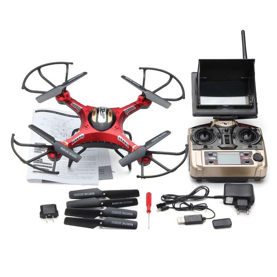 JJRC H8D 2.4Ghz 5.8G FPV RC Quadcopter مقطوعة الرأس وضع واحد مفتاح العودة Drone مع 2MP كاميرا FPV مراقب LCD جديد RTF VS V686G H9D