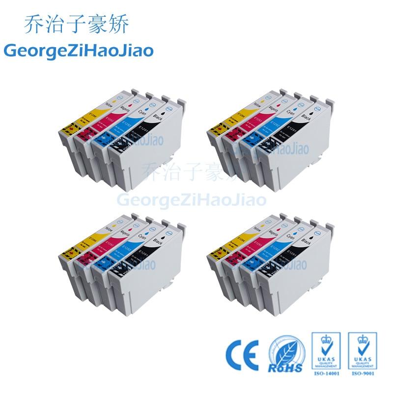 Conjuntos 4 1291XL Cartucho de Tinta Compatível para Epson Stylus SX445W SX525WD SX535WD SX620FW BX925FW Escritório B42WD BX30