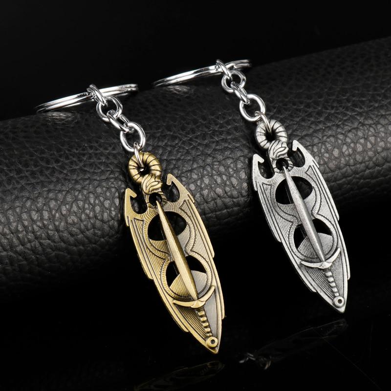 dongsheng Fashion The Elder Scrolls 5 Skyrim Pendant Dawnguard Hearth Fires Dragonborn Keychain Keyrings For Mens Gift-50