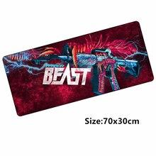 70*30 cm M4A1 tapis de souris pour CSGO skins Hyper bête tapis de souris de jeu pour CS: GO jeu gamer clavier loptop notbook mat verrouillé