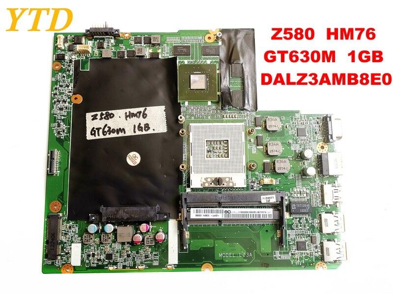 لوحة الأم الأصلية لأجهزة الكمبيوتر المحمول لينوفو Z580 Z580 HM76 GT630M 1GB DALZ3AMB8E0 تم اختبارها بشكل جيد شحن مجاني