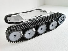 Brand New ze stopu aluminium ze stopu aluminium Caterpillar SUV Robot Tank podwozie dla majsterkowiczów hobbystów