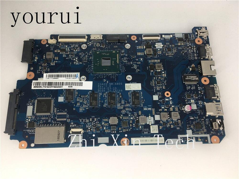 Yourui التسوق مجانا لينوفو 110-15IBR اللوحة المحمول SR2KN N3060U CPU DDR3 CG420 NM-A805 5B20L77418 اختبار موافق