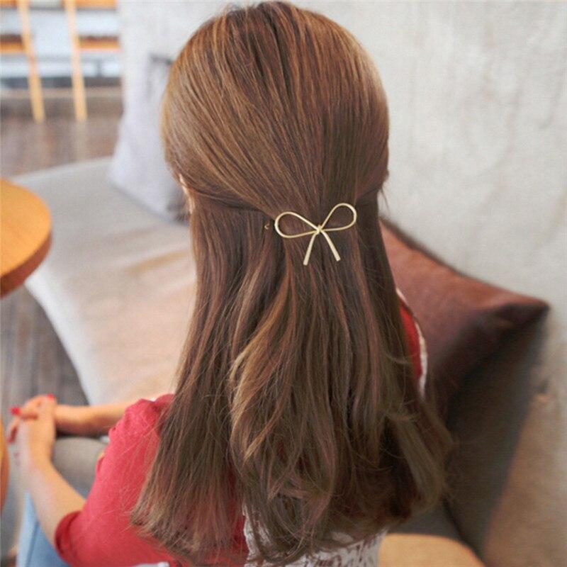 Модные женские заколки для волос, Винтажные заколки для волос с металлическим бантом, заколки для волос, аксессуары для волос, размер: 7,5*3,5 см