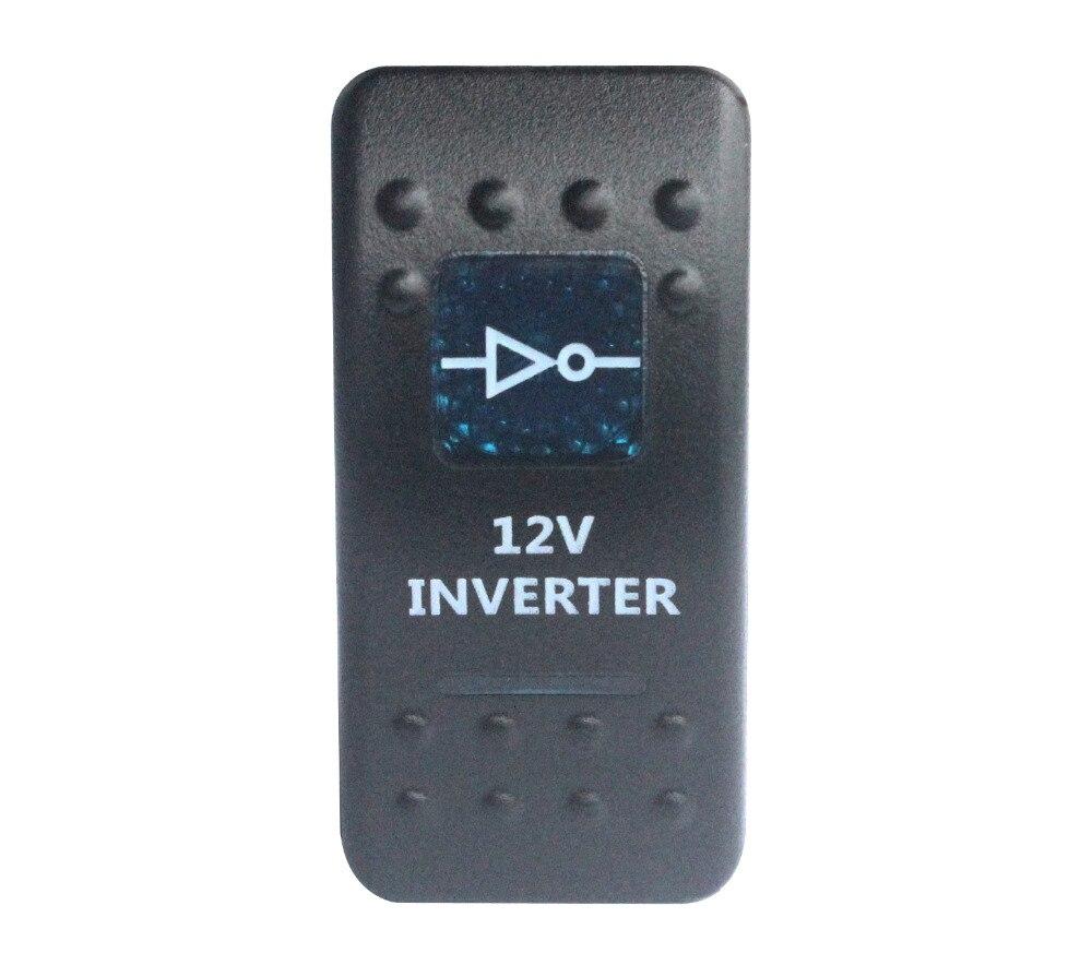 Синий светодиодный инвертор 12 В, 5-контактный кулисный переключатель spst для ARB Caring NARVA, сменный стиль, морской класс