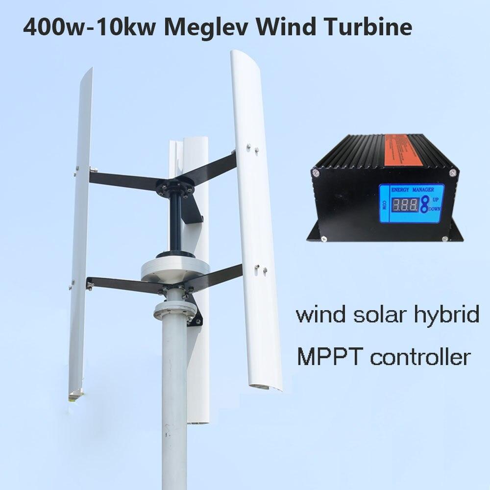 fase vertical do gerador 400w 12v 24v 48v 3 da turbina eolica de fltxny com 3 laminas