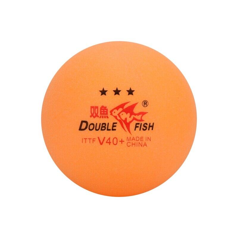 60 шариков/120 шариков, двойной рыбий мячик для настольного тенниса, оранжевый V40 + 3-звездочный без коробки, материал ABS, пластиковый поли мяч дл...