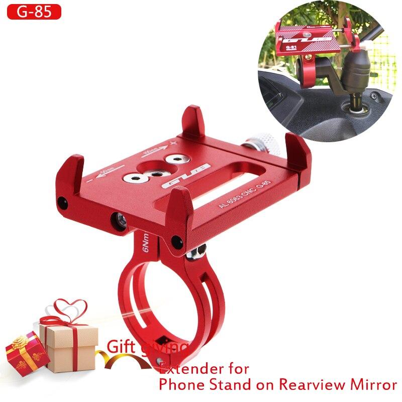 Support de téléphone portable support vélo moto support pour téléphone Mobile miroir aluminium gub G85 support pour Smartphones 3.5
